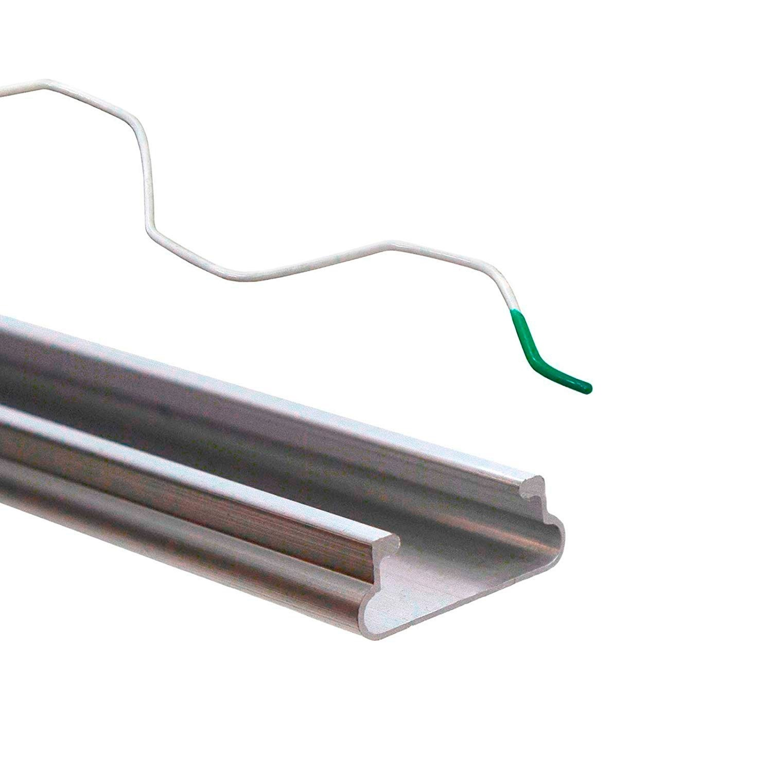 Greenhouse Plastic Shade Cloth Attachment Spring Wire /& Lock Channel Greenhouse Spring Lock /& U-Channel Bundle 5 Each